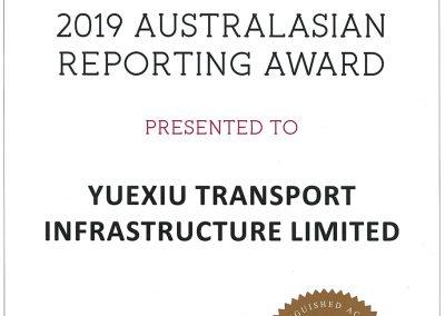 YUEXIU TRANSPORT INFRASTRUCTURE LIMITED – 2019 AUSTRALASIAN REPORTING AWARD BRONZE AWARD