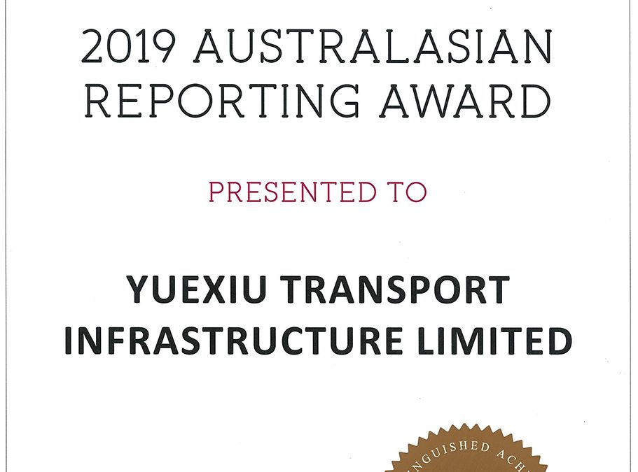 YUEXIU TRANSPORT INFRASTRUCTURE LIMITED – 2019 AUSTRALASIAN REPORTING AWARD BRONZE AWARD