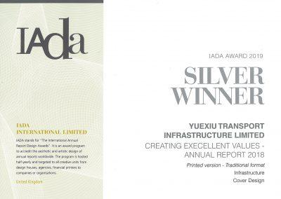 YUEXIU TRANSPORT INFRASTRUCTURE LIMITED – IADA AWARD 2019 SILVER WINNER