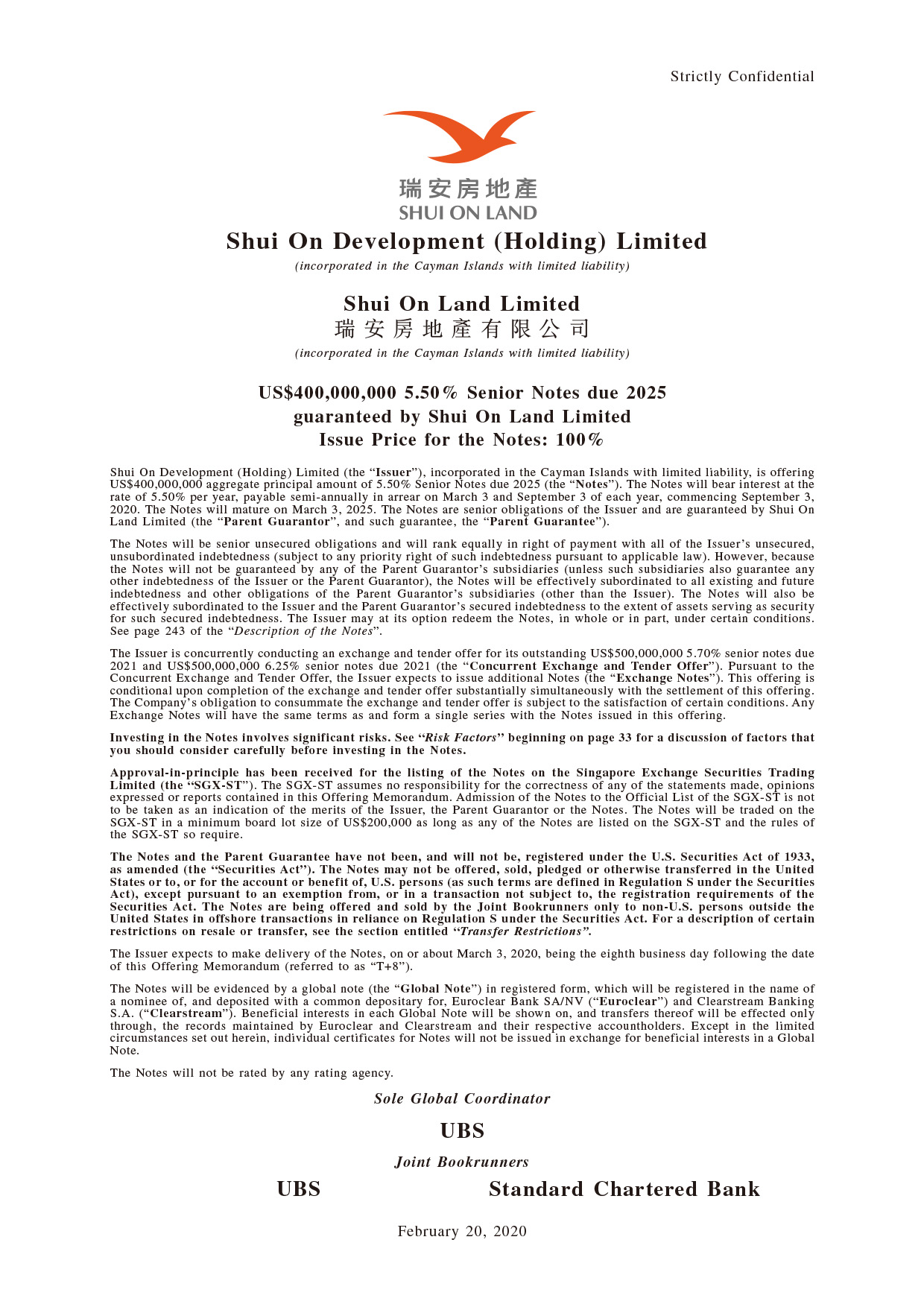 Shui On Development (Holding) Limited