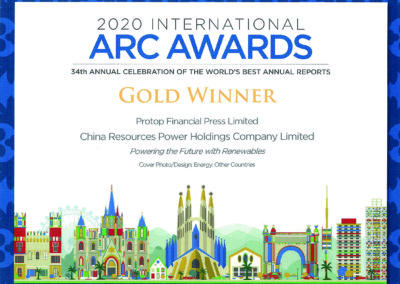 China Resources Power Holdings Company Limited 2020 Gold Award Other Countries