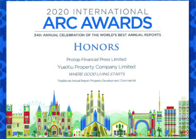 Yuexiu Property Company Limited 2020 Honors Award Commercial