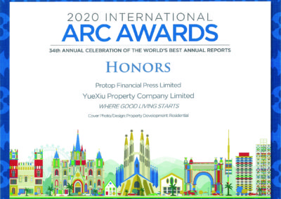 Yuexiu Property Company Limited 2020 Honors Award Residential