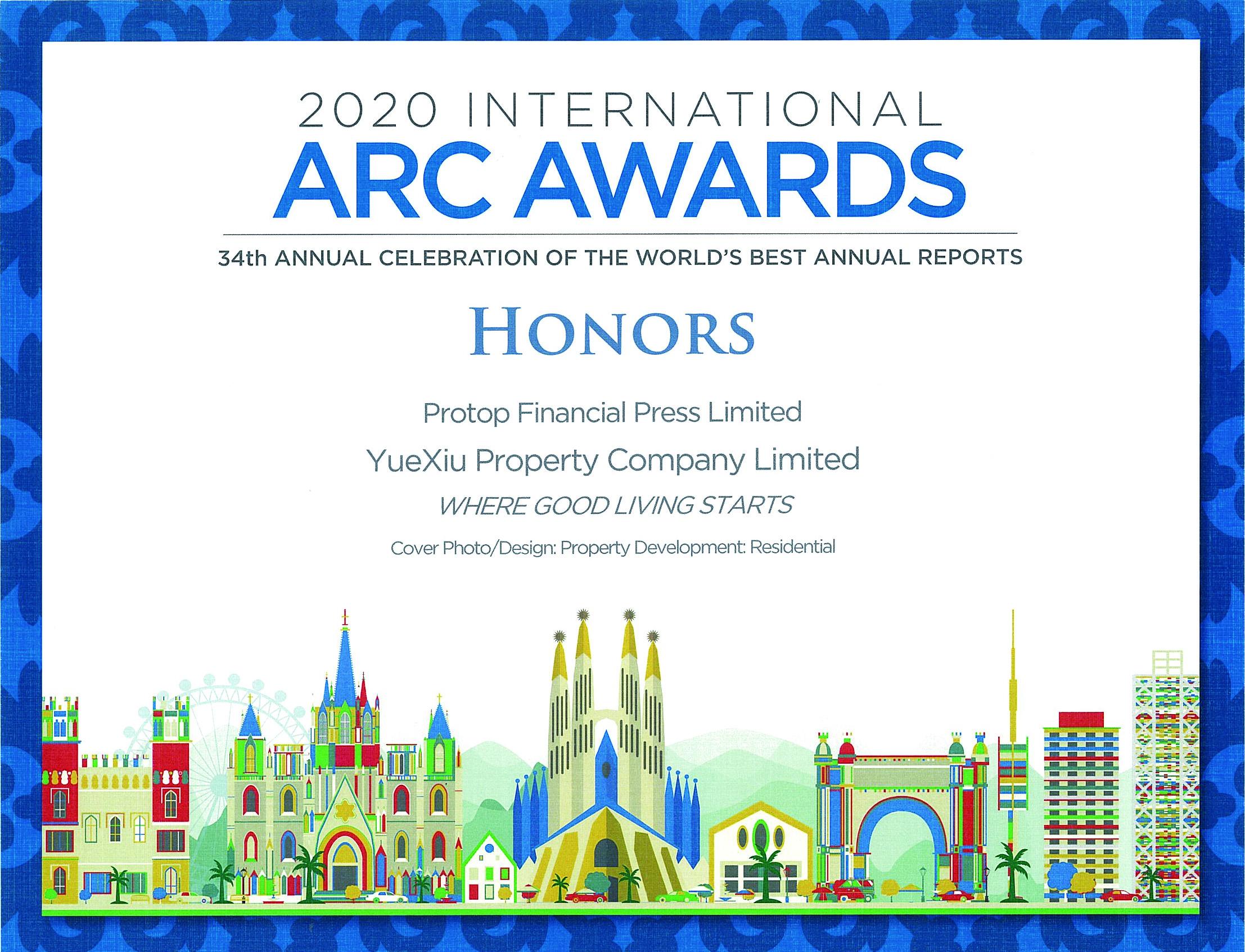 越秀地产股份有限公司 2020 Honors Award Residential