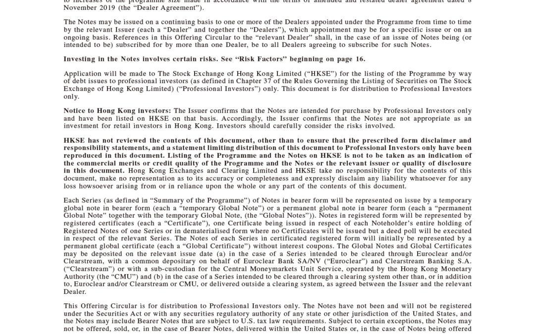 Bank of Communications Co., Ltd. Hong Kong Branch